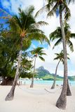 Beach on Bora Bora Stock Photography