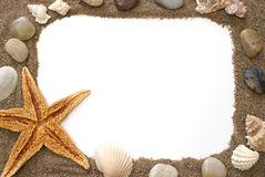 Beach Border Royalty Free Stock Photography