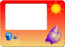 Beach Border. Frame for your holiday design projects Royalty Free Illustration