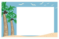 Beach border or frame Stock Images