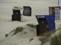 Beach of borkum Royalty Free Stock Photos