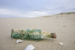 Beach bottle Royalty Free Stock Photography