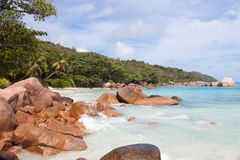 Beach with boulders Stock Photography