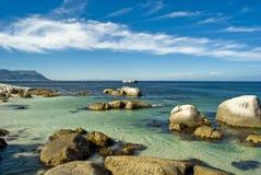 beach boulders 免版税图库摄影