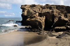 Beach and boulders Royalty Free Stock Image