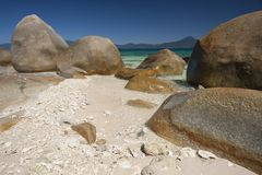 Beach boulders, Fitzroy Island. Stock Photo