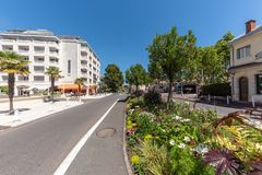 The Beach Boulevard in Arcachon, France. View of the Beach Boulevard in Arcachon, a famous seaside resort of France Royalty Free Stock Image