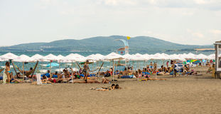 On the beach in Bourgas, Bulgaria Stock Photography