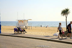 Beach, Bournemouth, Dorset. Stock Photo