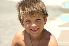 Beach Boy. Fun time at the beach Royalty Free Stock Photography