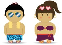 Beach boy & girl Royalty Free Stock Photo