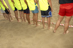 Beach boys team royalty free stock photo