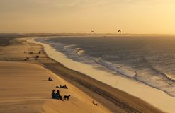 Beach in Brazil stock photography