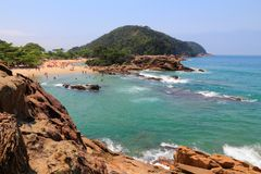 Beach in Brazil. Costa Verde (Green Coast) in Trindade near Paraty. State of Rio de Janeiro Stock Images