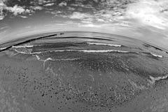Beach with breakwater Stock Image