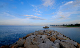 Beach with breakwater Stock Photography