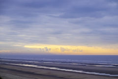 The beach of Bredene in Belgium Stock Photography