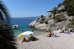 Beach in Brela, Croatia Royalty Free Stock Photography