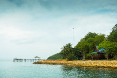 Beach bridge. Thailand landscape outdoor Royalty Free Stock Image