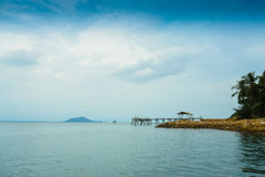 Beach bridge. Thailand landscape outdoor Stock Photo