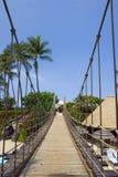 beach bridge to Arkivbilder