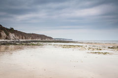Beach in Bridlington, UK stock photography