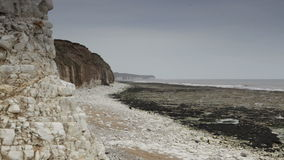 Beach in Bridlington, UK stock footage