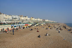 The beach at Brighton, UK Royalty Free Stock Photography
