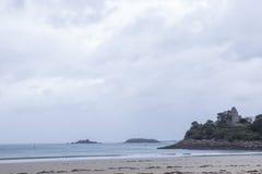 Beach in britanny stock photo