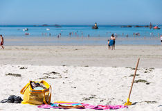 Beach in Brittany, France Stock Images