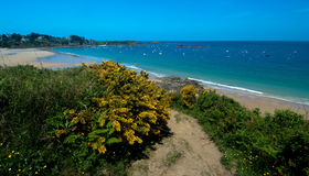 Beach in Brittany. Sandy beach in Brittany near Dinard Royalty Free Stock Photography