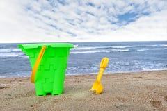 Beach bucket Stock Photos