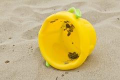 Beach bucket Stock Photo
