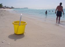 Beach bucket Stock Photography