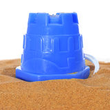 Beach bucket on the sand Royalty Free Stock Images