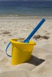 Beach bucket and shovel Stock Photos
