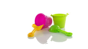 Beach bucket tools Royalty Free Stock Images
