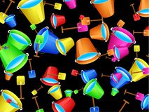 Beach Bucket Wallpaper Stock Photos