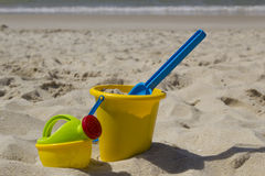 Beach bucket and watering can Stock Image