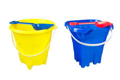 Beach buckets Stock Images