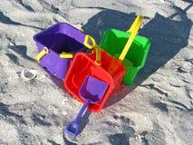 Beach buckets Royalty Free Stock Photo