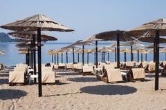 Beach in Budva, Montenegro Stock Photo