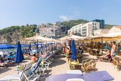 Beach in Budva, Montenegro Royalty Free Stock Photos