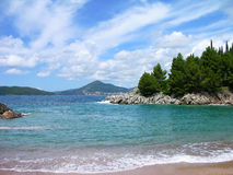 Beach at Budva's riviera, Montenegro Stock Photo