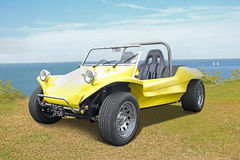 Beach buggy by coast Royalty Free Stock Photo
