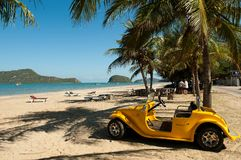 Beach Buggy at Dolpin Beach stock images