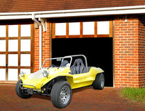 Beach buggy in garage Royalty Free Stock Photography