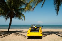 Beach Buggy at a Tropical Beach Royalty Free Stock Image