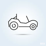 Beach buggy vector icon. Beach buggy motor vehicle Line Icon Vector Stock Photography