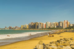 Beach and Buildings of Fortaleza Brazil Royalty Free Stock Photo